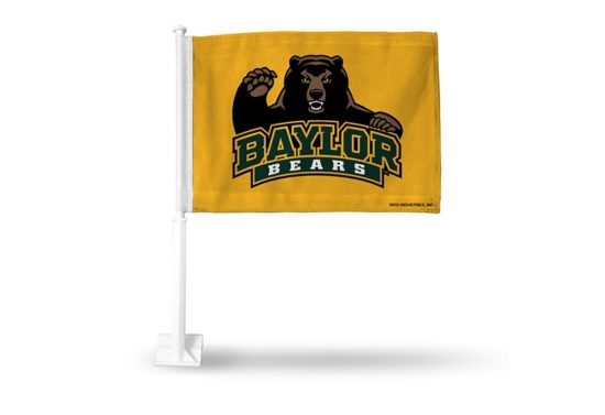 Baylor Bears Yellow Car Flag