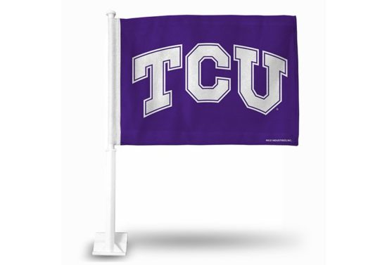 TCU Horned Frogs Car Flag (White Pole)