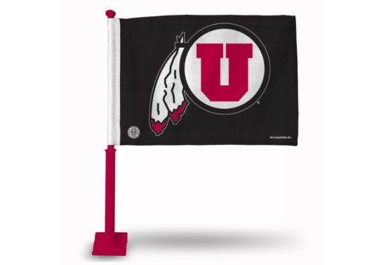 Utah Utes Car Flag (Red Pole)