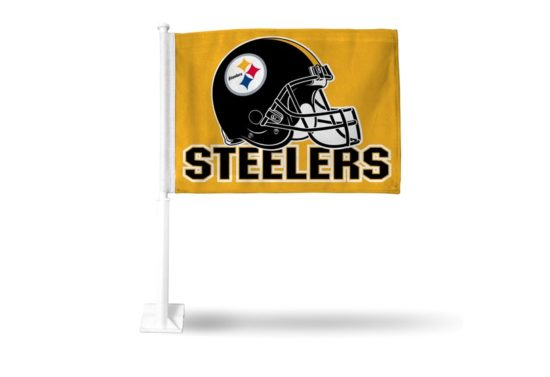 PITTSBURGH STEELERS (GOLD) CAR FLAG
