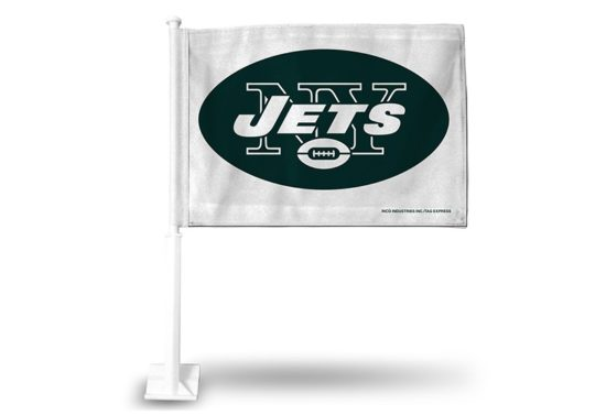 JETS WHITE CAR FLAG
