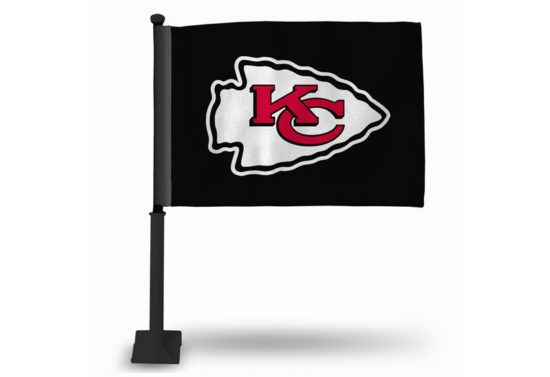 KANSAS CITY CHIEFS ARROWHEAD ON BLACK CAR FLAG